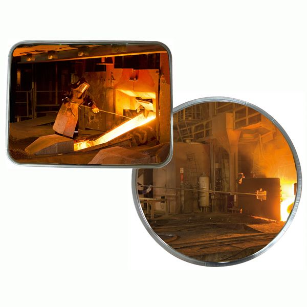 stainless steel safety mirrors industrial application
